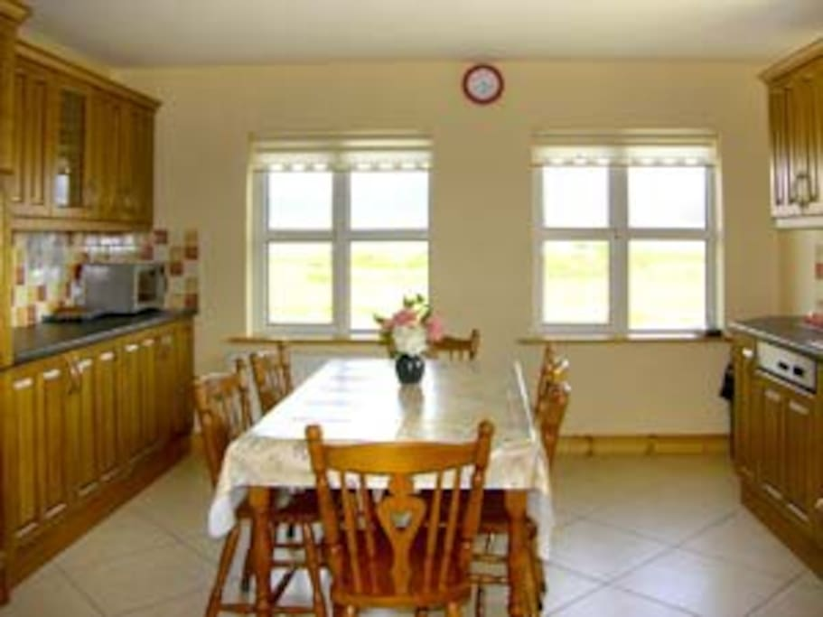 Bright, spacious, well equipped kitchen