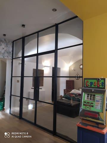 Glazed bedroom