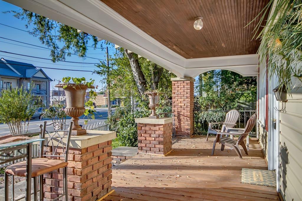Large front porch