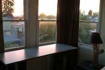 sunny room with great sunset view