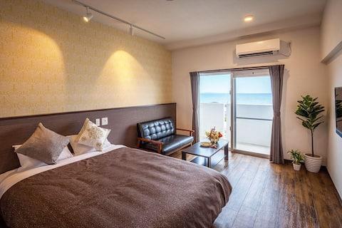 【ダブル】よなばるの海岸近くに新規オープン!wifi・駐車場・洗濯機・乾燥機を全室完備!
