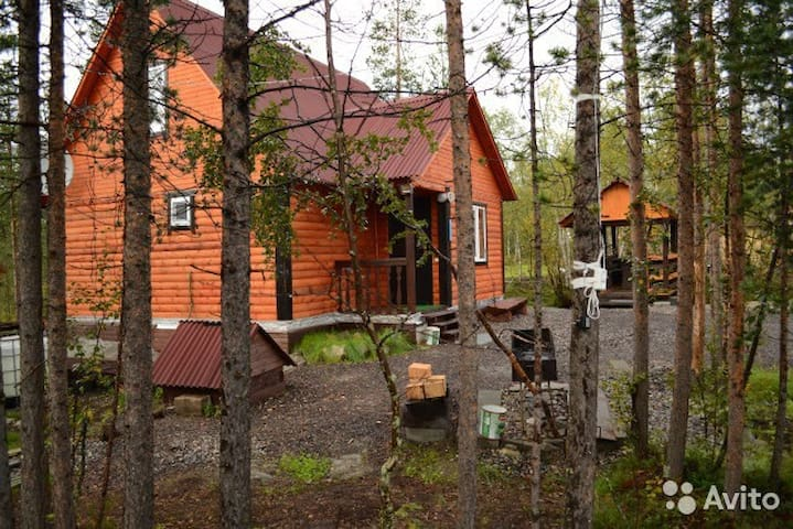 The house on the river 30 km from Murmansk