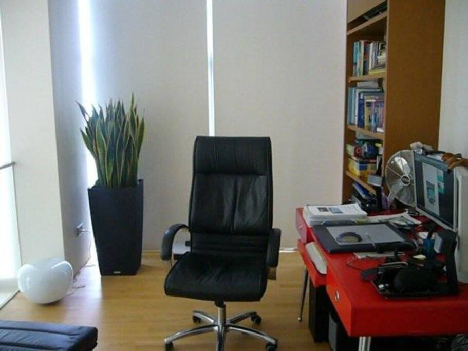 Open concept study/reading area