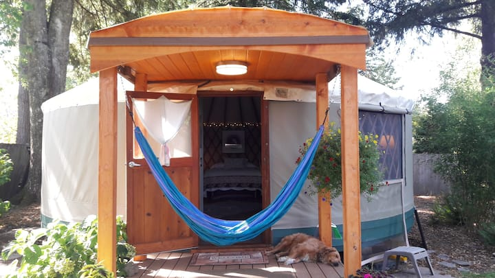 Garden Home Backyard Yurt Experience