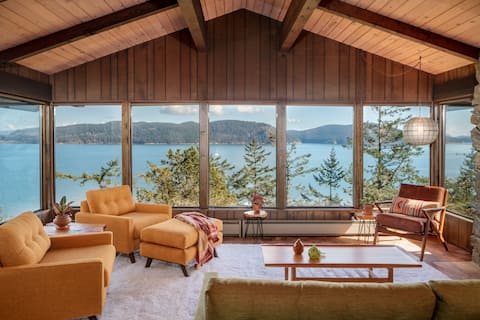 Mid-century Modern Eagles Nest Sweeping Water View