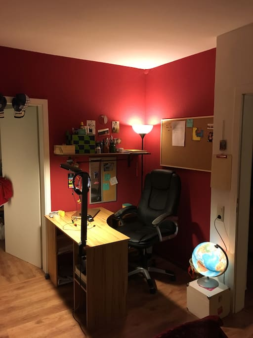 My office...it can also be shared to prepare for work and conferences ....