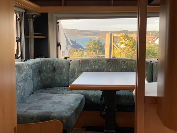 Caravane sur Mer en Bretagne
