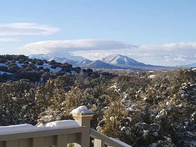 Winter mountain view from the front deck