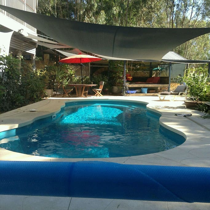 10x5m solar heated pool (summer only or cold winter swims)