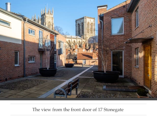 The view from the front door of 17 Stonegate