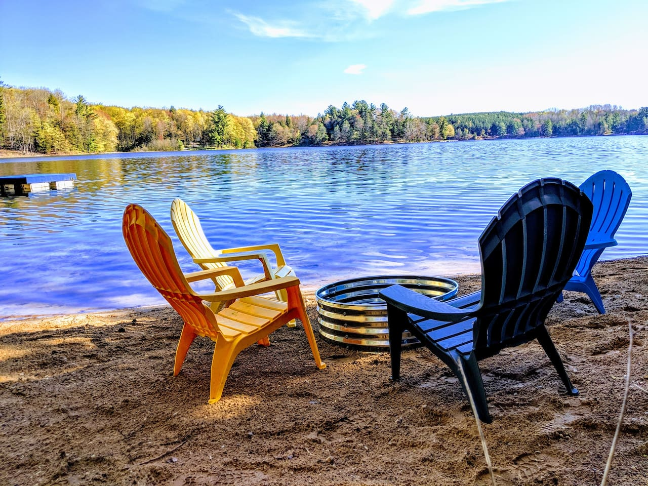 Swim, relax, boat, & have your campfire on the sandy, private beach at beautiful Lake Meauwataka!