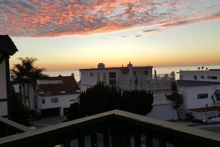 Ocean view apt steps from the beach - San Clemente
