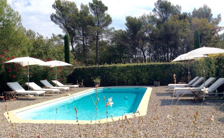 Gîte classé***piscine,wifi,à 15 km Aix-en-Provence - Fuveau - Appartement