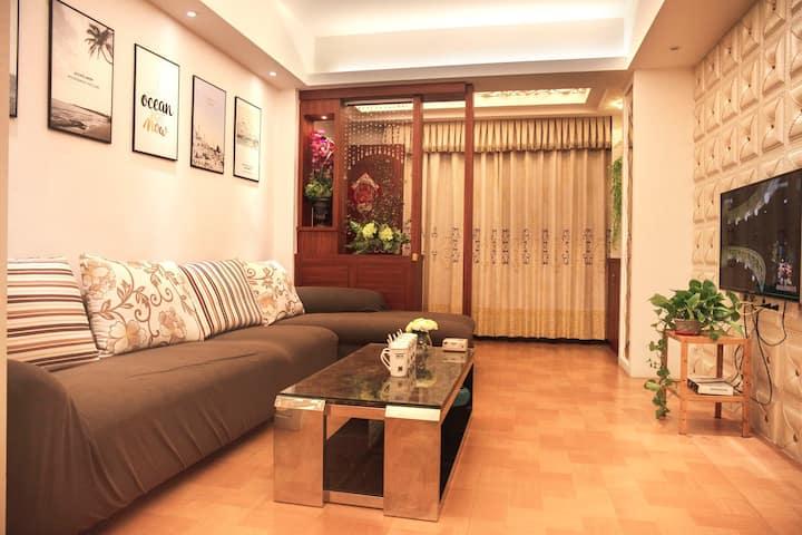 【驿心居】现代装修温馨舒适两房两床房整租