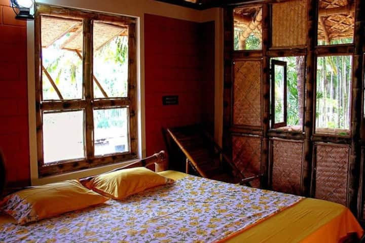 Bamboo cottage room inside plantations-2 rooms
