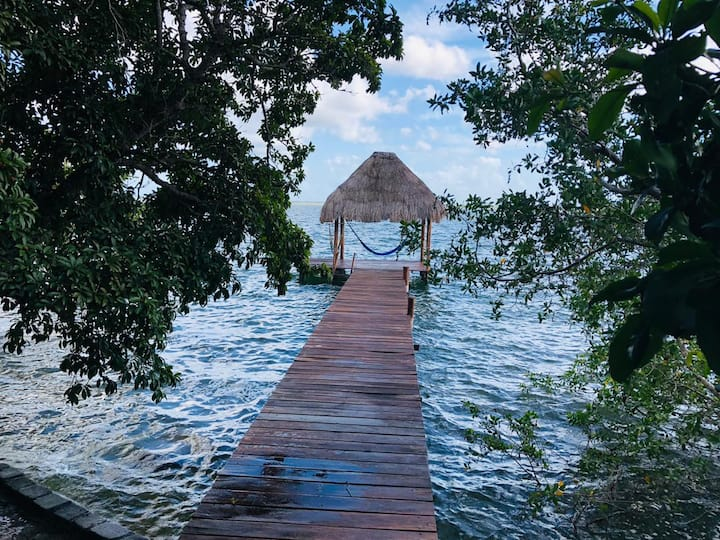Cabaña Sophía ❤️ Front Lake, AA, Kayac Free & Wifi