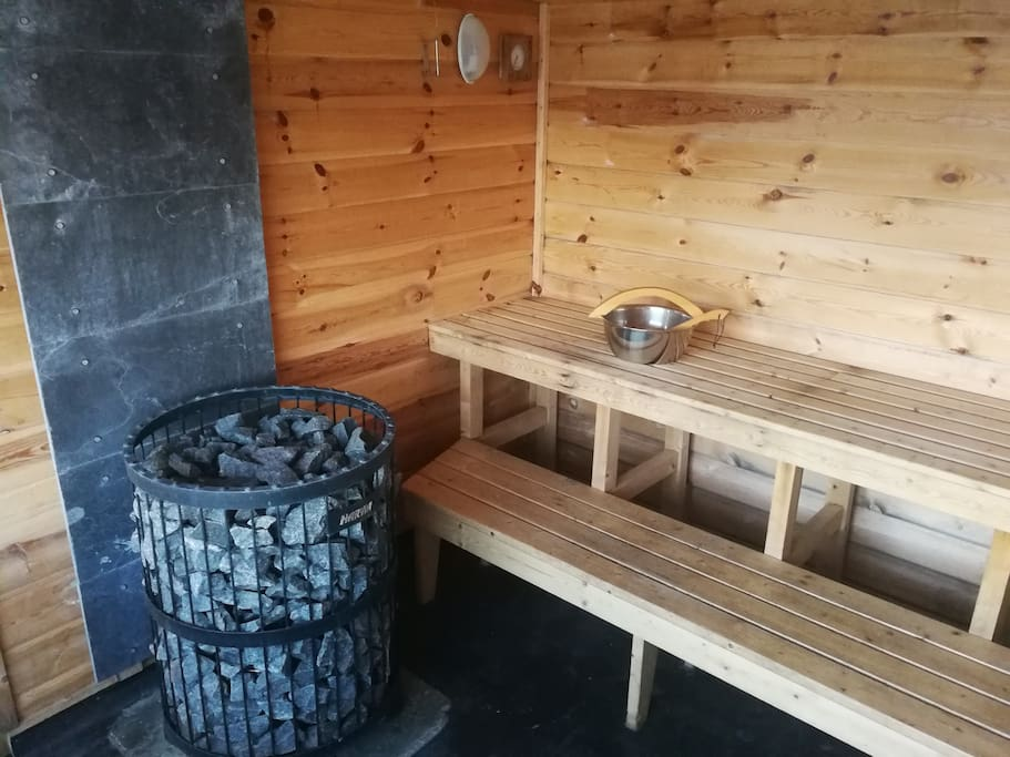 Our fantastic sauna