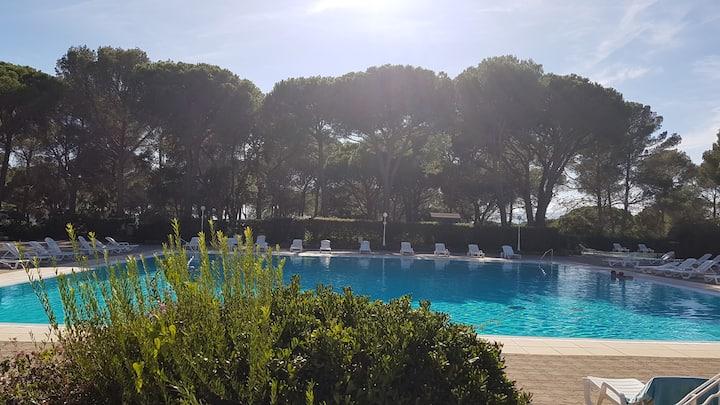 Studio 4 pers dans résidence avec piscine