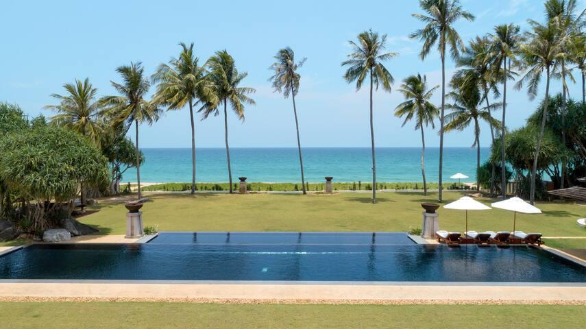 Luxury beachfront villa.