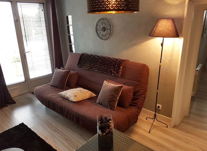 Appartement cosy à 300 m du lac, proche Evian