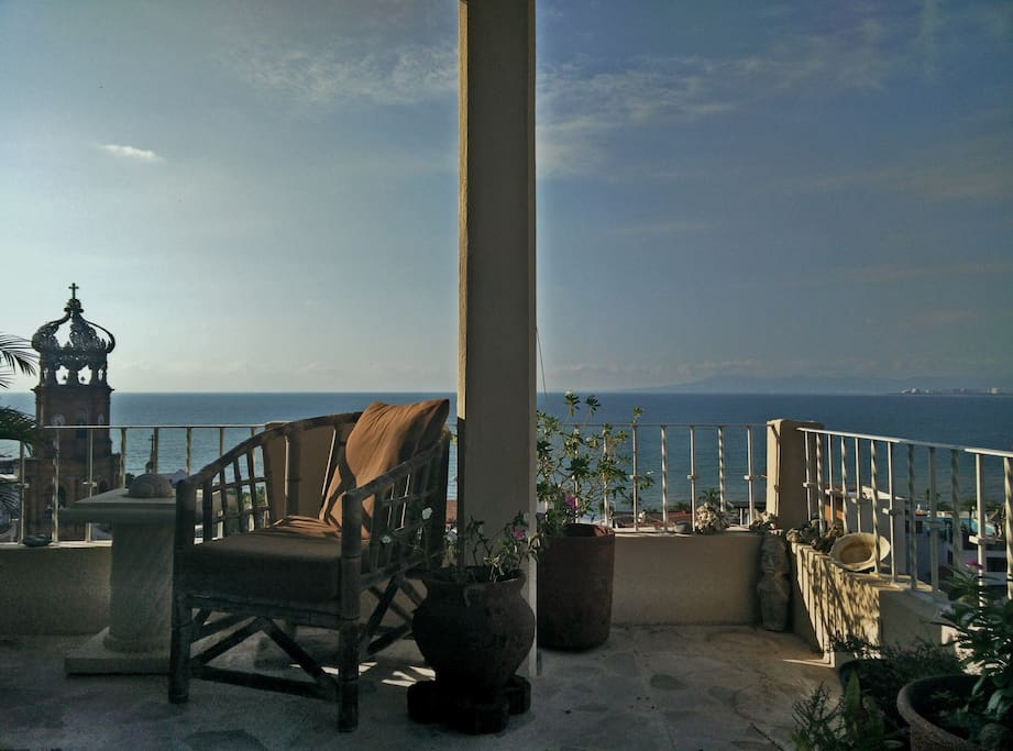 Full view of the Puerto Vallarta bay of Banderas  from the living area.
