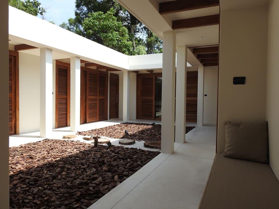 Bedrooms area