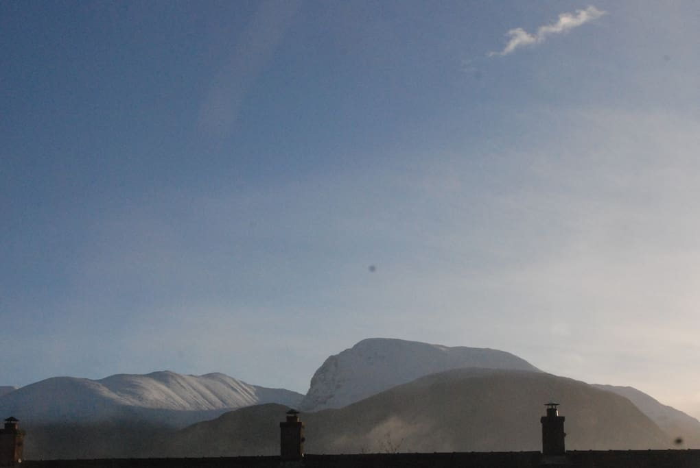 Ben Nevis from our window