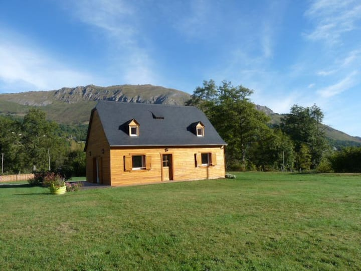maison bois au calme