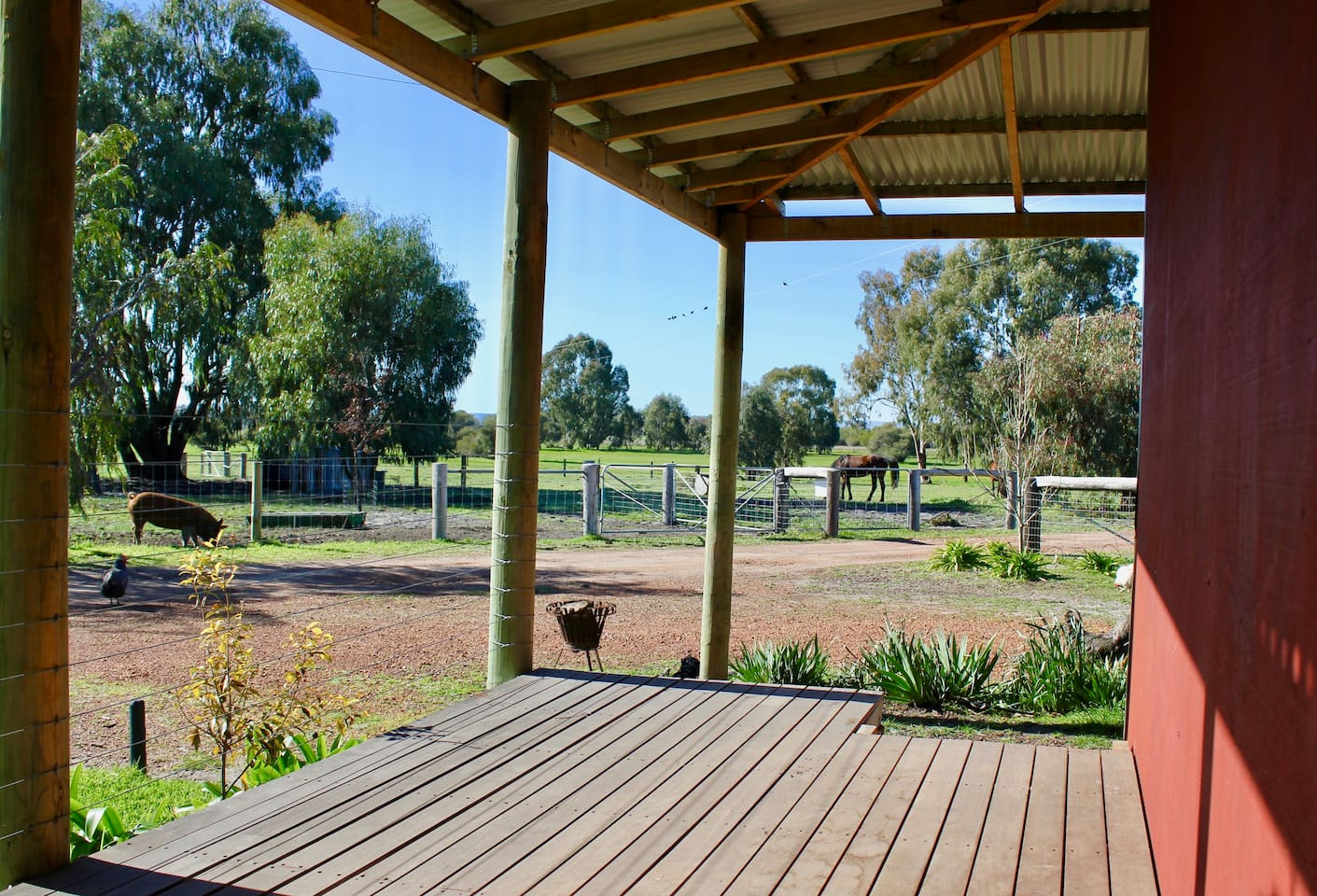No need to imagine sitting on the the verandah enjoying a drink watching the horses.