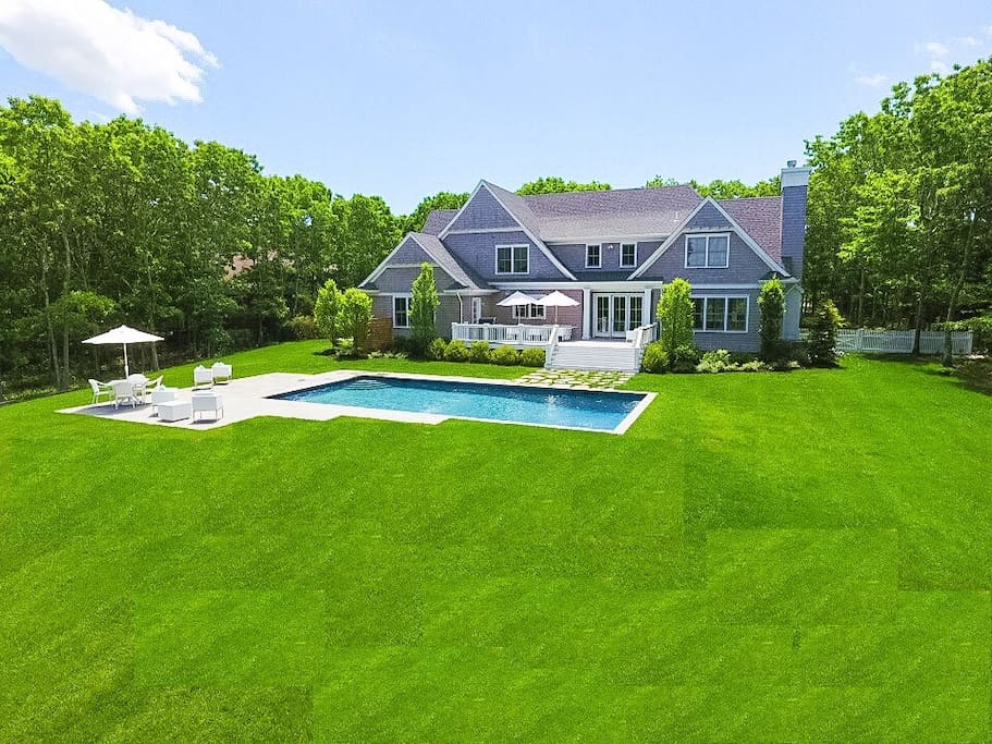 House set on 2.5 Acres with Lake Views