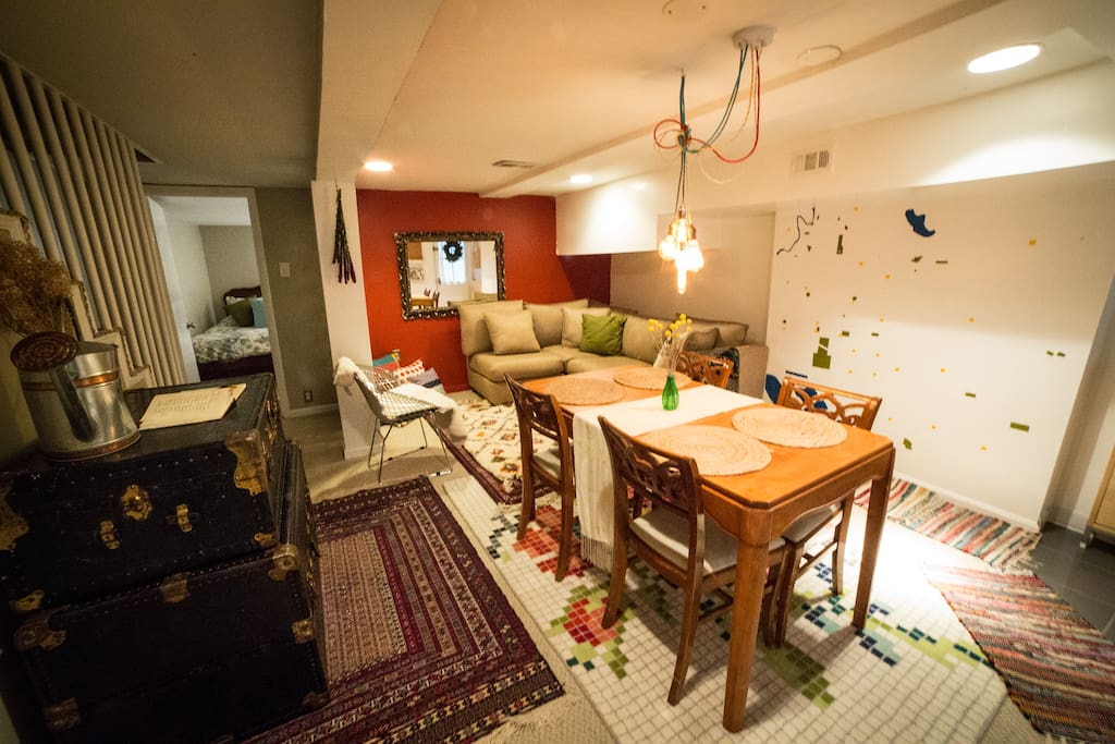Hunker down with a good book in the spacious and comfortable living area!