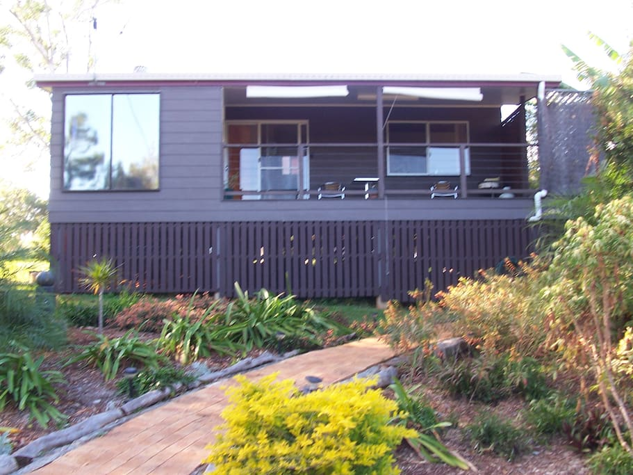 Relax on the front deck and enjoy nature including many birds