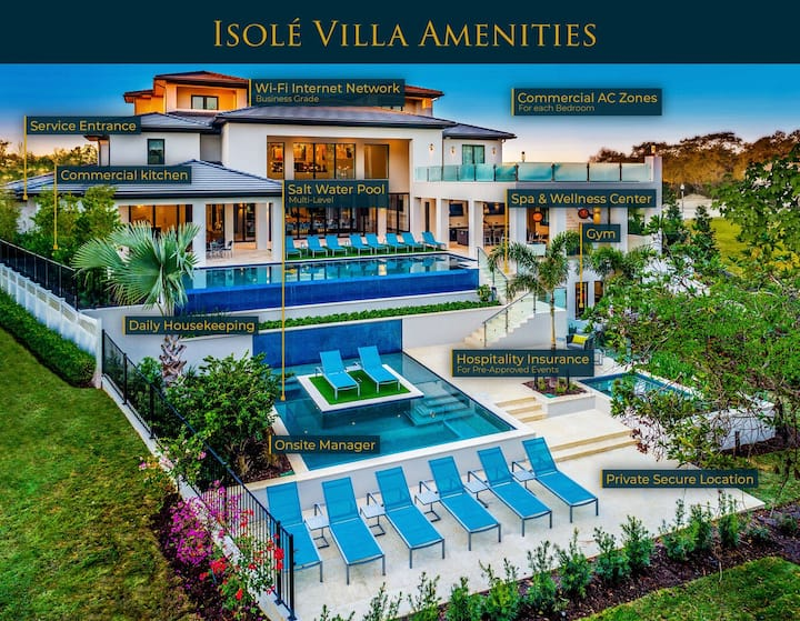 Isolé Villas | 25,000 sq. ft. Accommodations with World-Class Hospitality