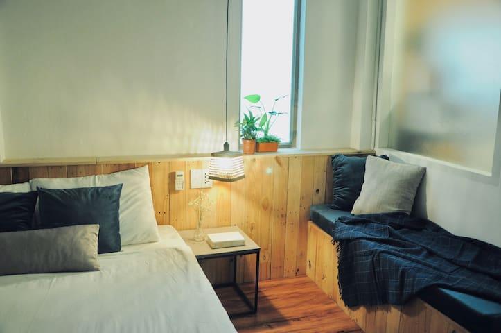 Comfy bedroom for a good night sleep!