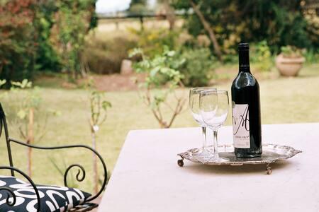 Wine getaway, in town rural outlook