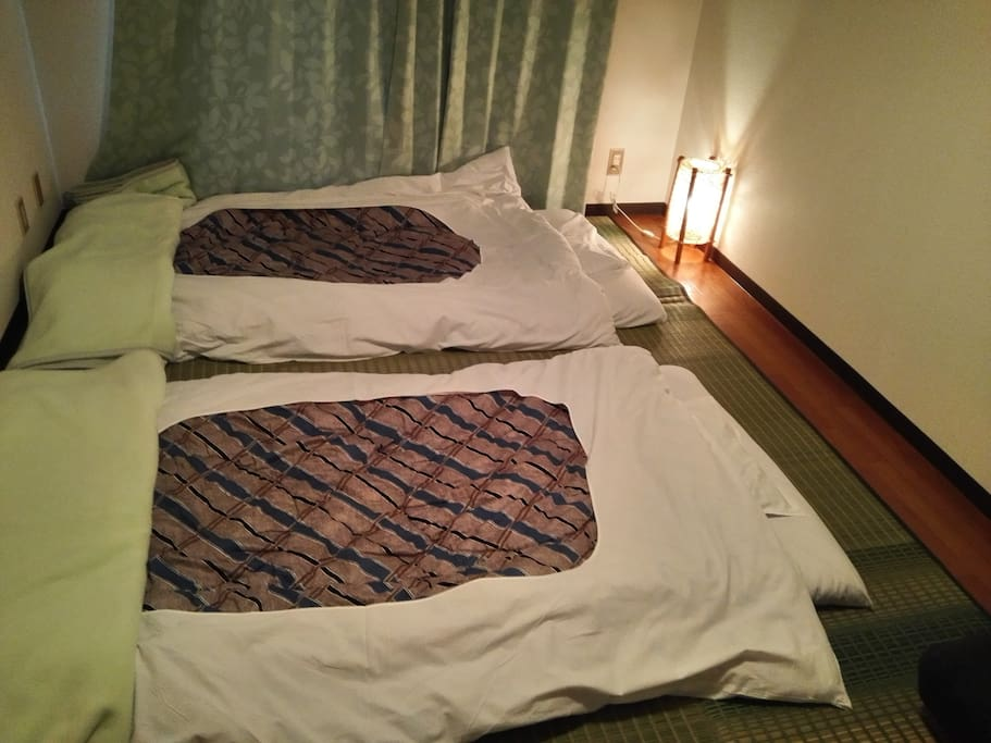 It's not a gorgeous bed, but we will provide Futon with the clean white sheets.