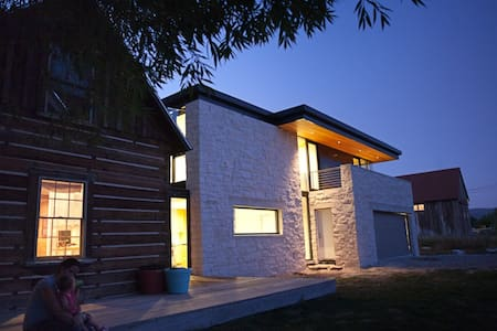 Modern house in mountain village - Midway