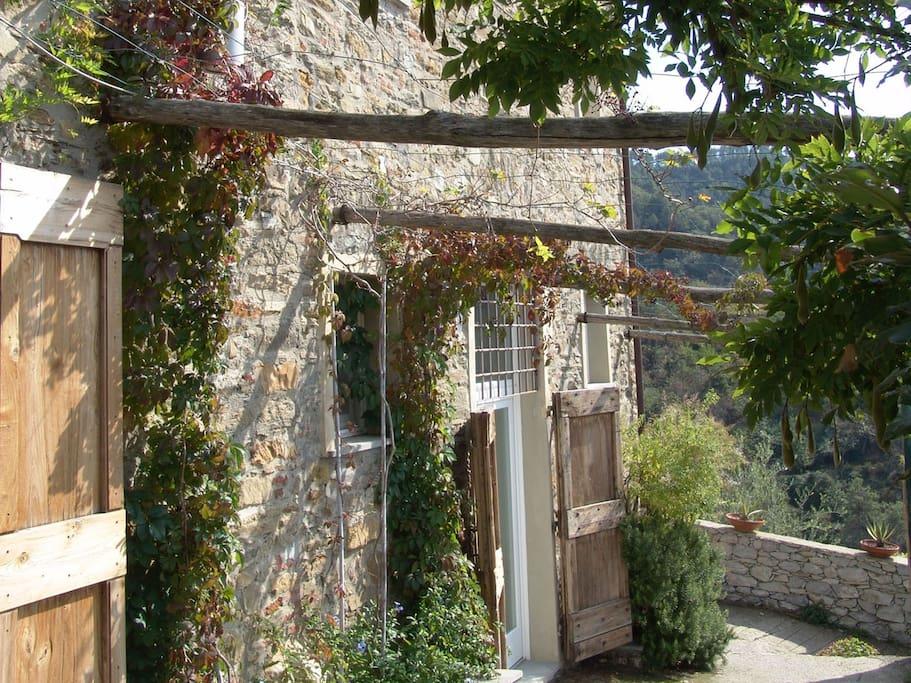 In a medieval village.