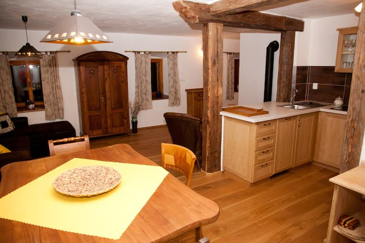 Waterwheel apartment at Kamenný potok