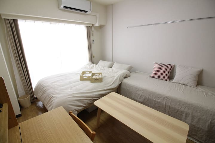★WiFi★ 5-min-walk from Yokohama Sta. Max. 4#EH1