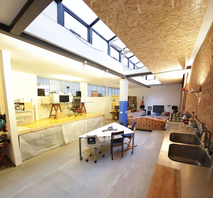 Zona studio, zona pranzo - Studio, lunch room