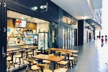 Restaurants and cafe beside the apartment, less than 1 min walk