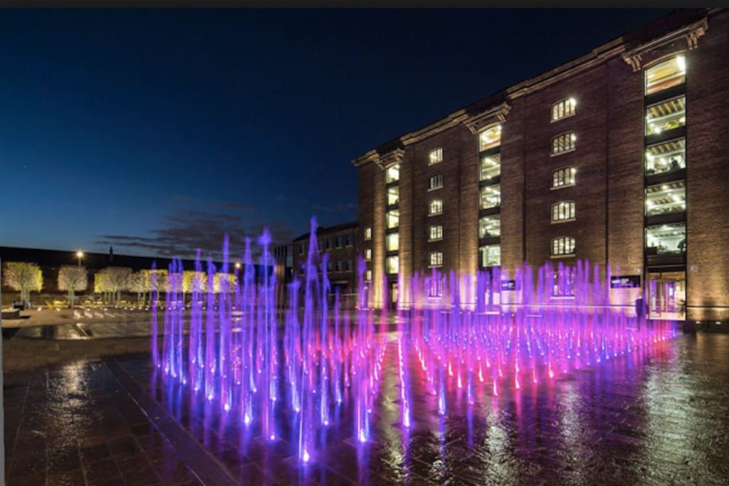 A few minutes walk from Granary Square