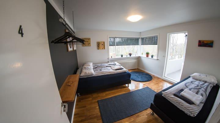 Cozy & Stylish Room With a Balcony
