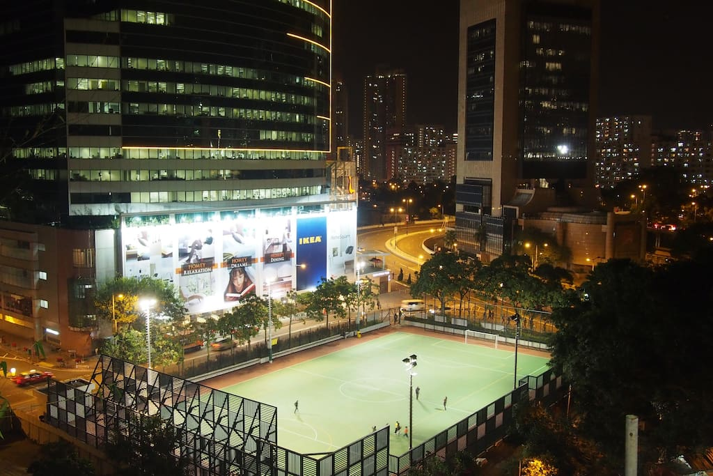 Night view of the local village & Shatin from the living room.