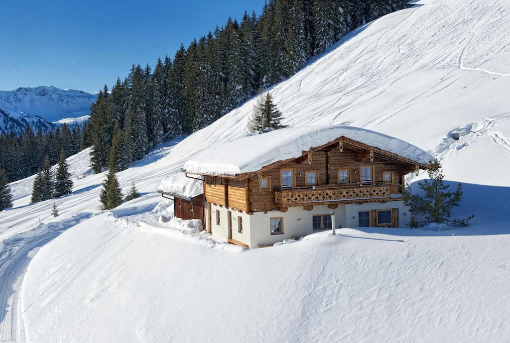 Wallegg-Lodge im Winter...
