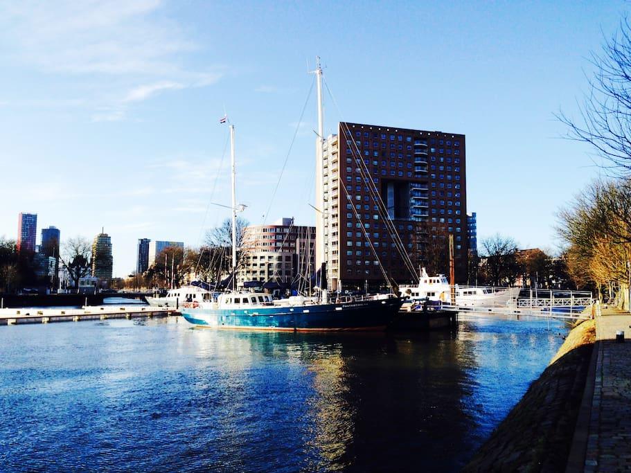 Private hotelship luxurious cosy huizen te huur in for Huizen huur rotterdam