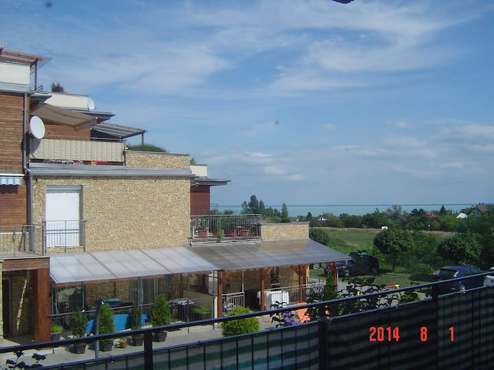 Panoramic view of Lake Balaton from the Balcony