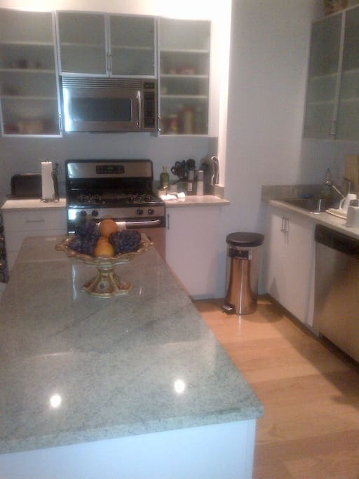 beautiful stainless steel appliances in the kitchen