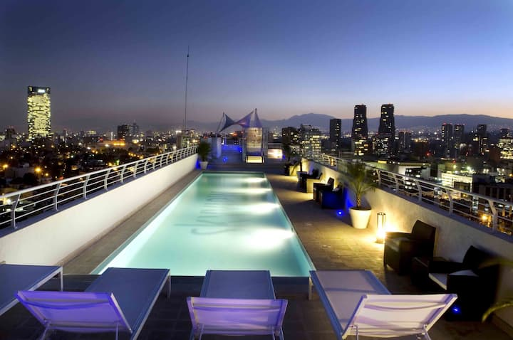 Loft new Polanco swimming pool